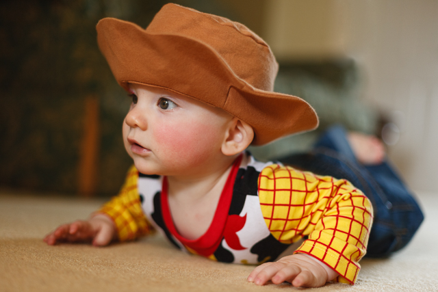 Owen dressed as Woody